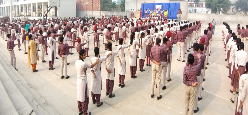 Morning Assembly in School